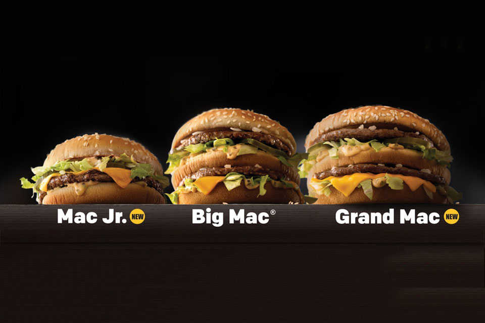 McDonald's Announces Two New Sizes For Big Mac