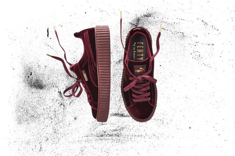 puma x rihanna fenty creepers gets velvet upgrade. Black Bedroom Furniture Sets. Home Design Ideas
