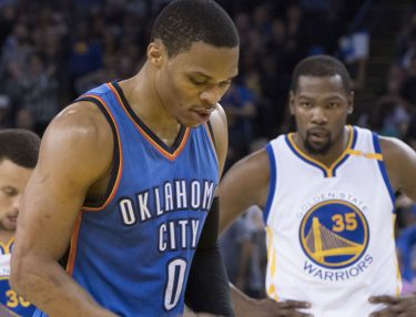 Russell Westbrook and Kevin Durant