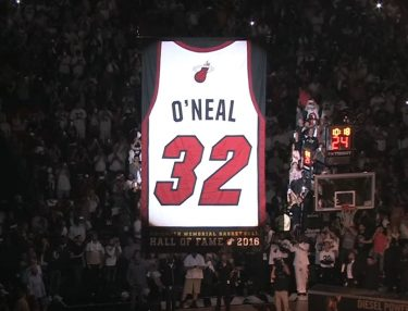 Miami Heat Retire Shaq's No. 32 Jersey