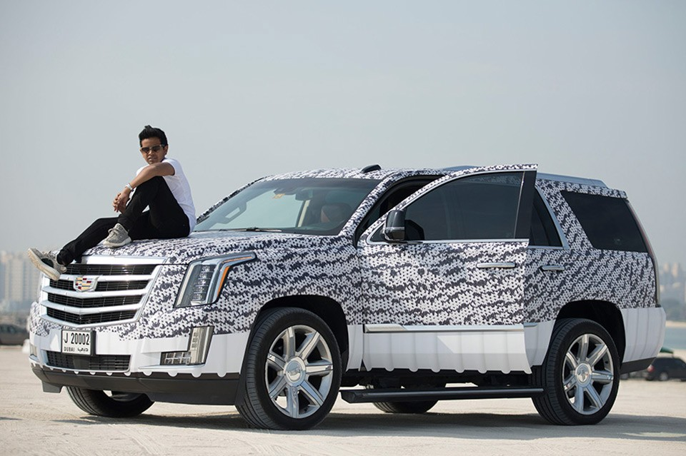 Fan Gets Customized Yeezy Boost Wrapped Cadillac Escalade