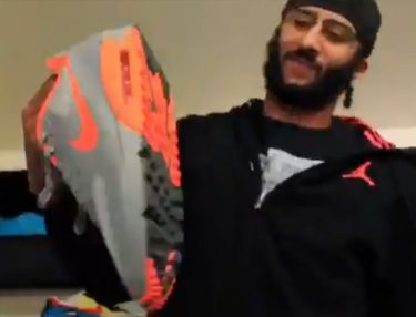 Colin Kaepernick Donates Sneaker Collection to Homeless