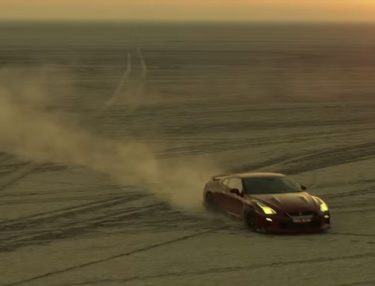 Nissan GT-R Salutes India With World's Largest Country Map