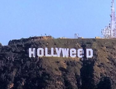 Hollywood Sign changed to Hollyweed