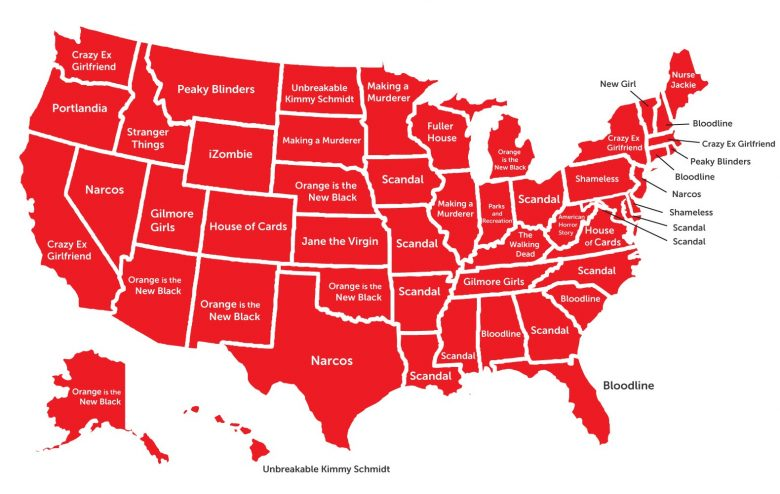 Most Popular Netflix Shows by State