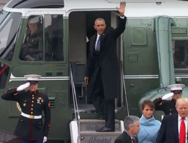Obama waves goodbye