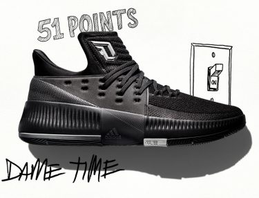 Adidas Dame 3 Lights Out