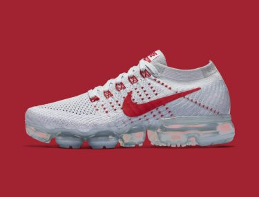 Nike VaporMax Pure Platinum/University Red