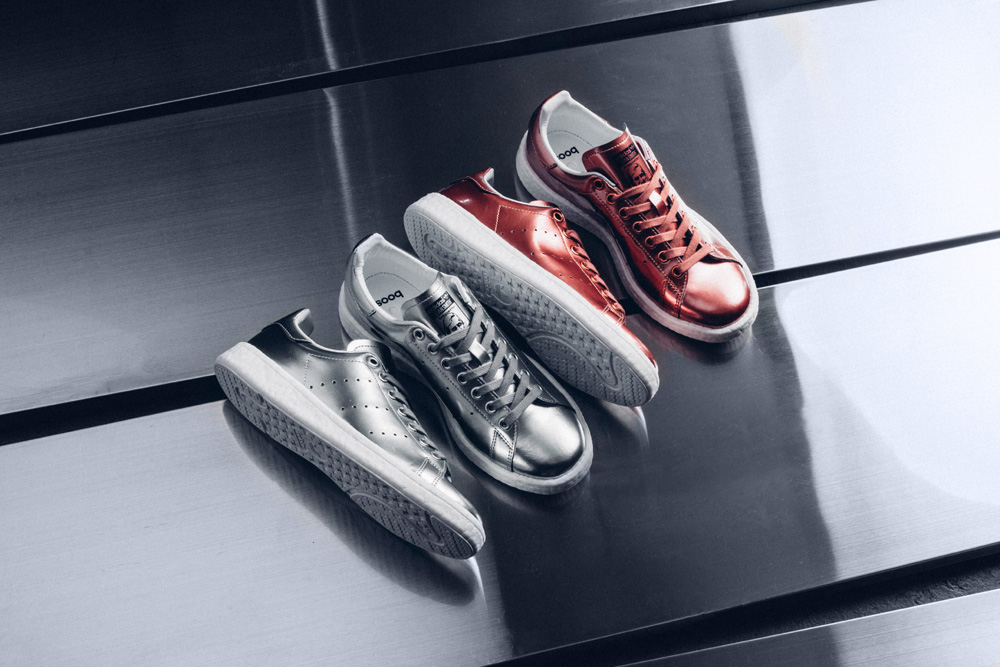 "Adidas Releases Stan Smith BOOST ""Metallic"" Pack"