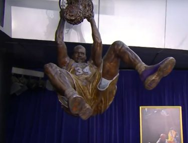 Lakers Honor Shaq With Bronze Status Outside Staples Center
