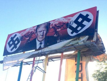 Anti-Trump billboard by Karen Fiorito