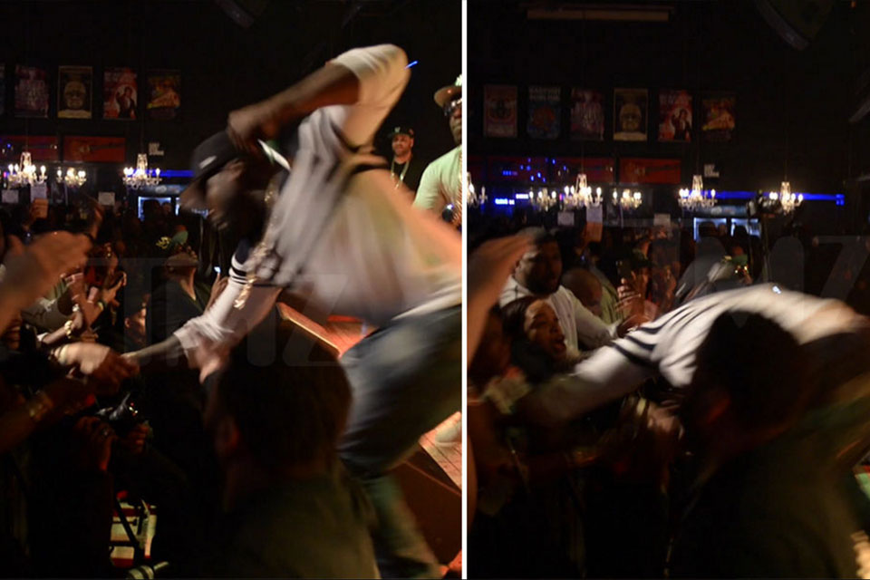 50 Cent Punching Female During Show