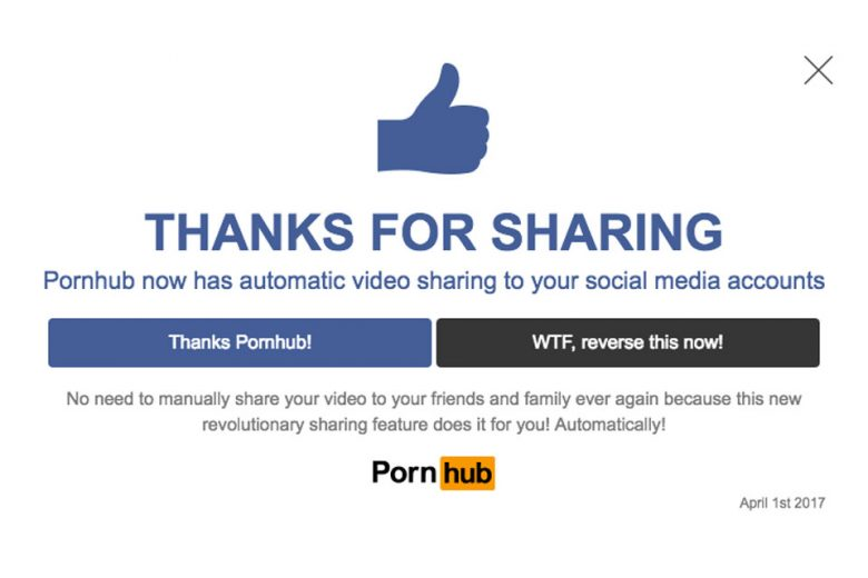 Pornhub x April Fool's Day