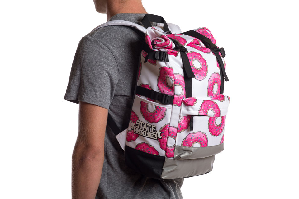 The Simpsons x Bicycle Co. Donut Roll-Top Backpack