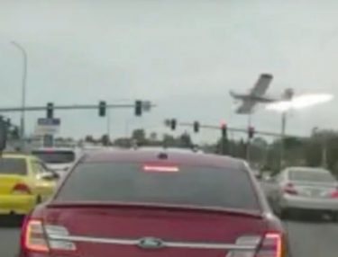 Video Captured of Plane Crashing Into Intersection in Washington