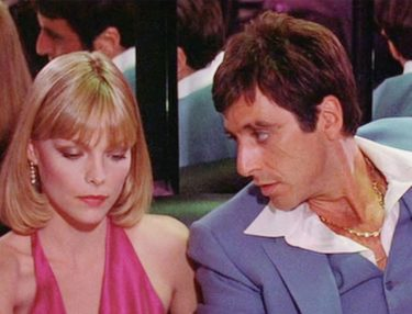 Michelle Pfeiffer and Al Pacino in Scarface