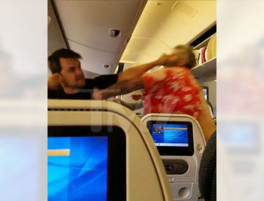 Two Guys Brawl On Flight From Japan to LAX