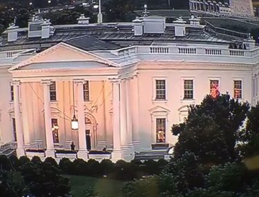 Flashing Red Lights Inside White House Windows