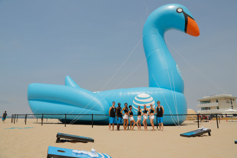 AT&T Sets Guinness World Record for Largest Pool Toy