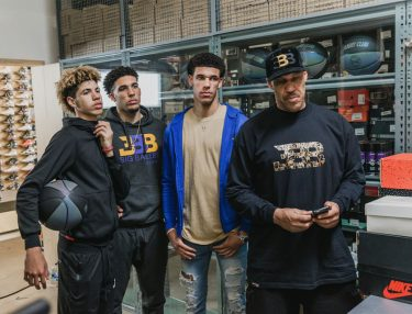 Ball Family Go Sneaker Shopping in L.A.