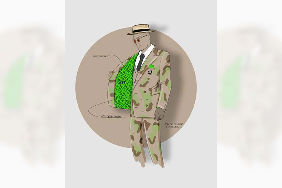 Nountain DEW Triple-Double Breasted Suit Honoring Russell Westbrook