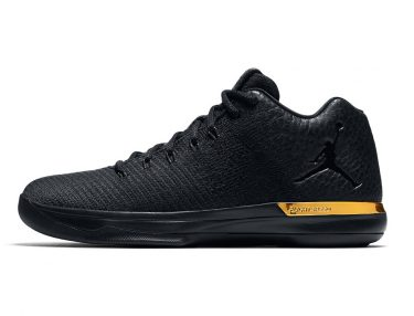 Air Jordan 31 Low Black & Metallic Gold