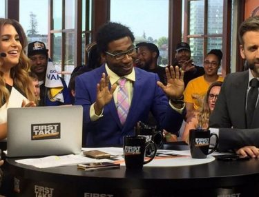 Lil B Lifts James Harden Curse Live on ESPN First Take