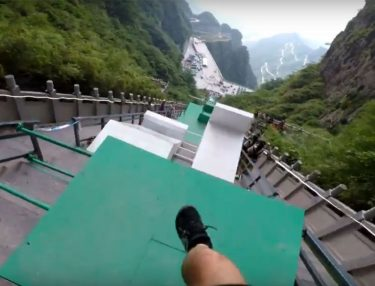 Dude Goes Down World's Largest Parkour Course