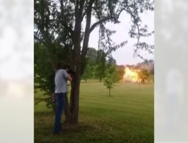 Dude shoots refrigerator filled With Tannerite