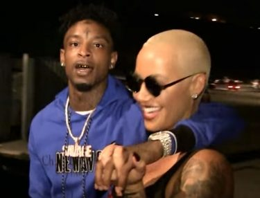 21 Savage and Amber Rose