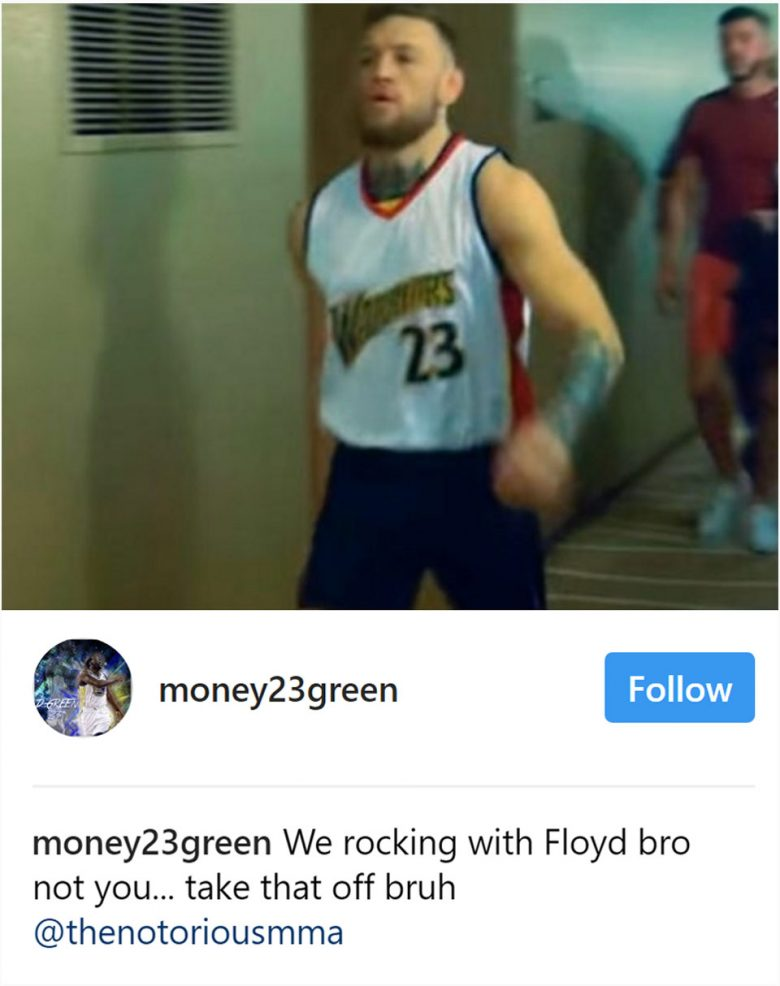 Conor McGregor trades shots with Draymond Green