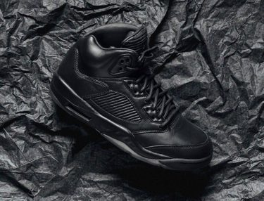 Air Jordan 5 Flight Suit Triple Black
