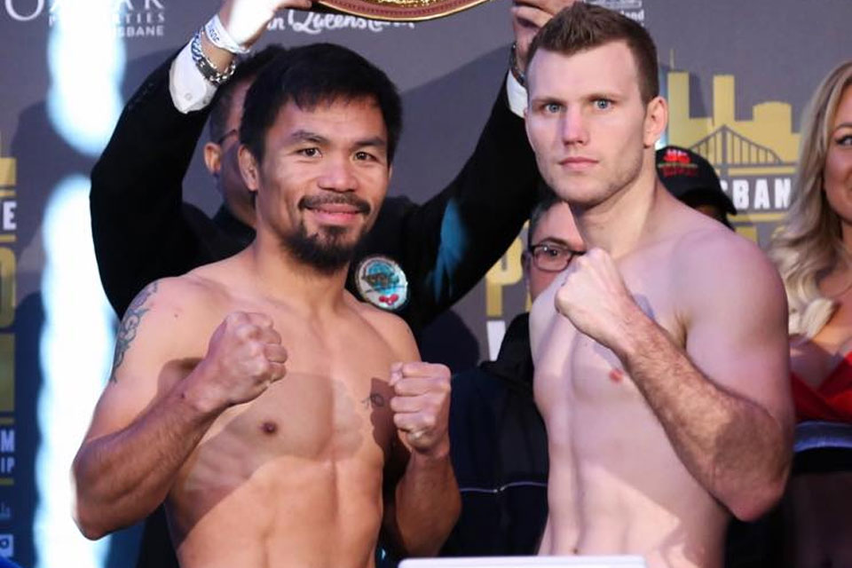 Manny Pacquiao and Jeff Horn