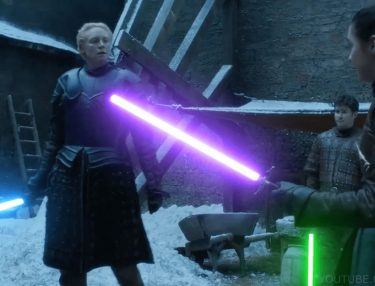 Arya Stark vs. Brienne of Tarth Lightsaber Duel