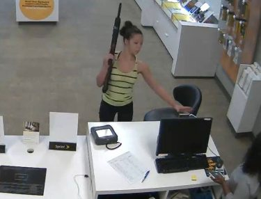 Girl Robs Sprint Store With Rifle