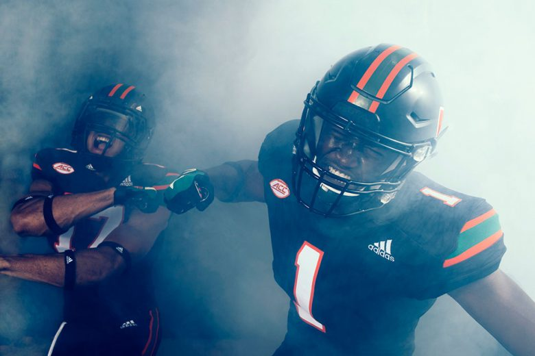 University of Miami x adidas Alternate Football Uniforms