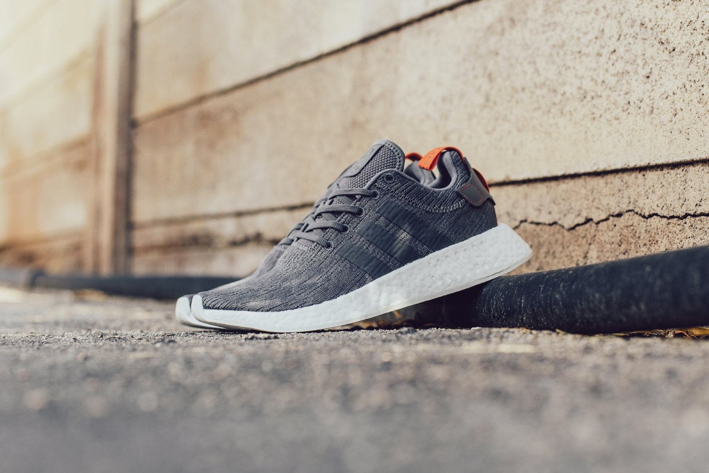 Adidas NMD_R2 Grey/Future Harvest