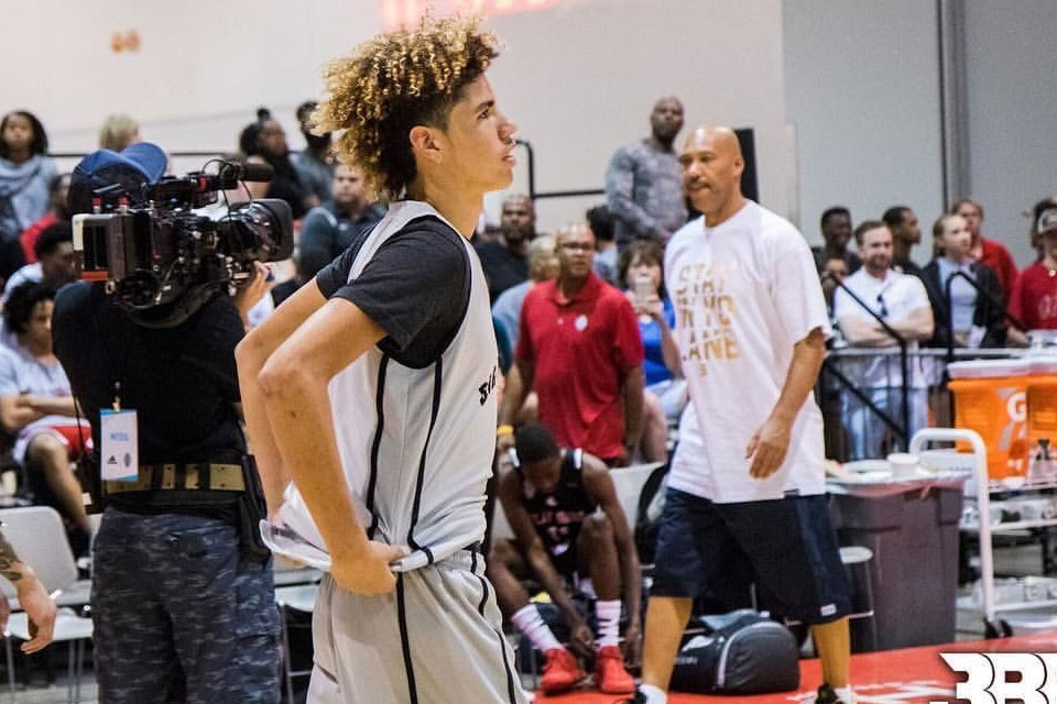 LaMelo Ball and LaVar Ball