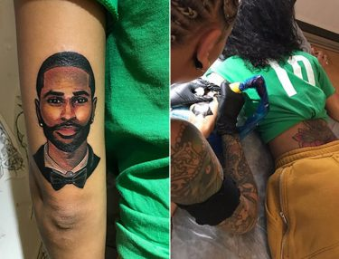 Jhené Aiko Gets Big Sean Portrait Tattoo