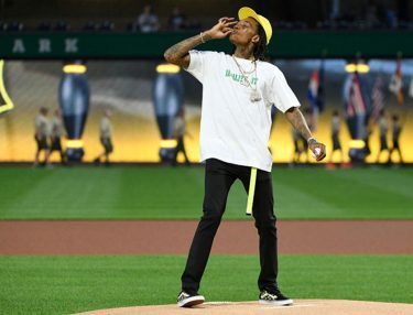 Wiz Khalifa Throws Out First Pitch Pirates
