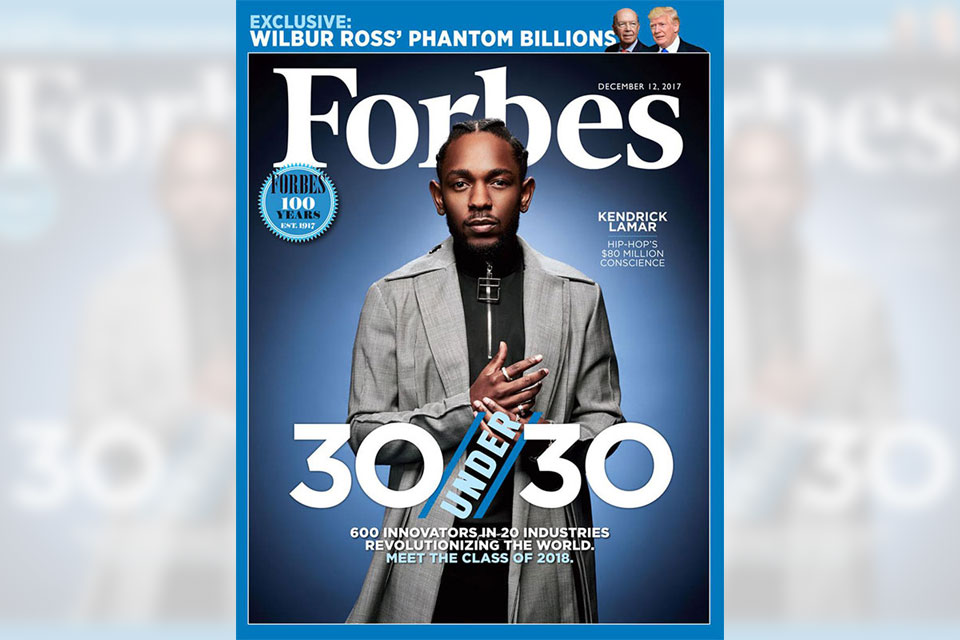Kendrick Lamar Forbes 30 Under 30 Issue