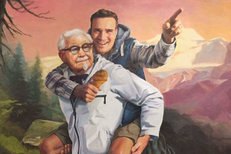 KFC Sent Painting to Guy Who Discovered Their Twitter Secret