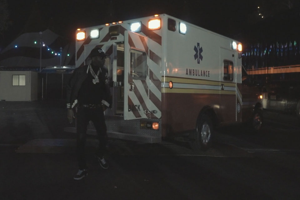 Young Dolph Exits Ambulance