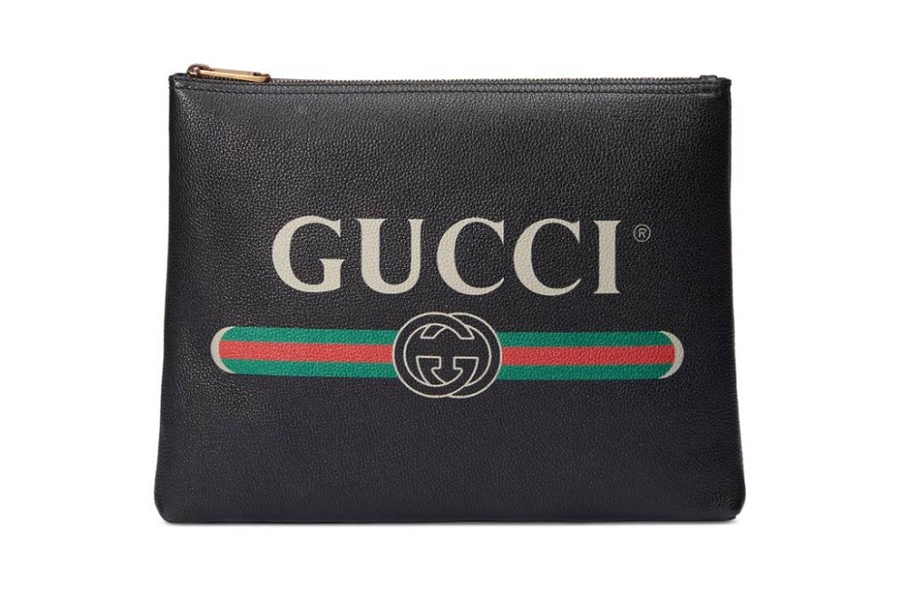 Gucci Men's Leather Print Goods