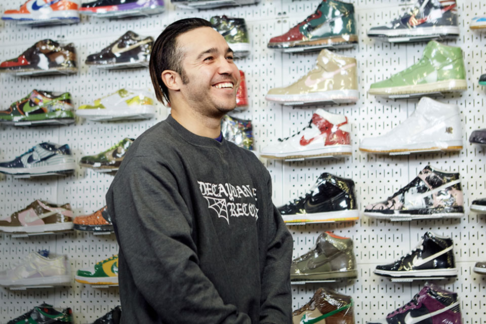 Fall Out Boy's Pete Wentz Goes Sneaker Shopping in NYC