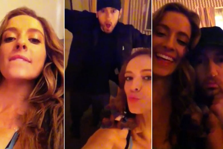 Eminem Kisses Unknown Woman in Leaked Video