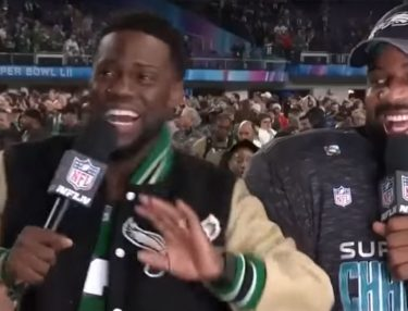 Kevin Hart drunk at Super Bowl