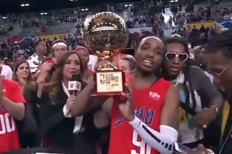 Quavo Named MVP of NBA All-Star Celebrity Game