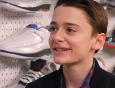 Noah Schnapp Stranger Things Sneaker Shopping