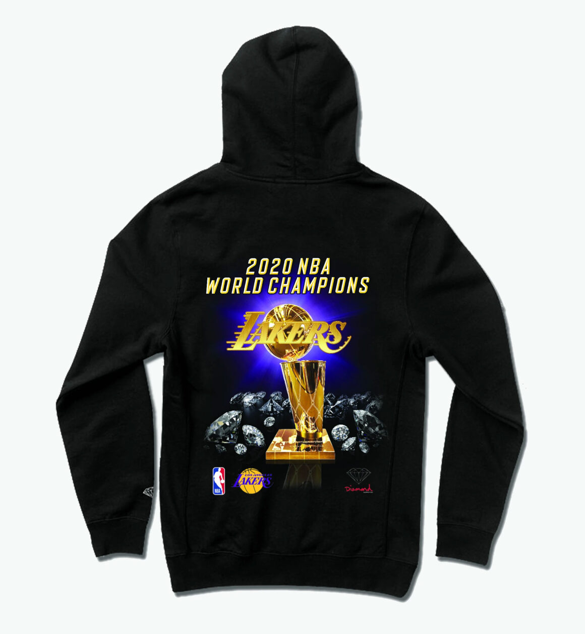 Diamond Supply Co. 2020 WORLD CHAMPION LOS ANGELES LAKERS TEE